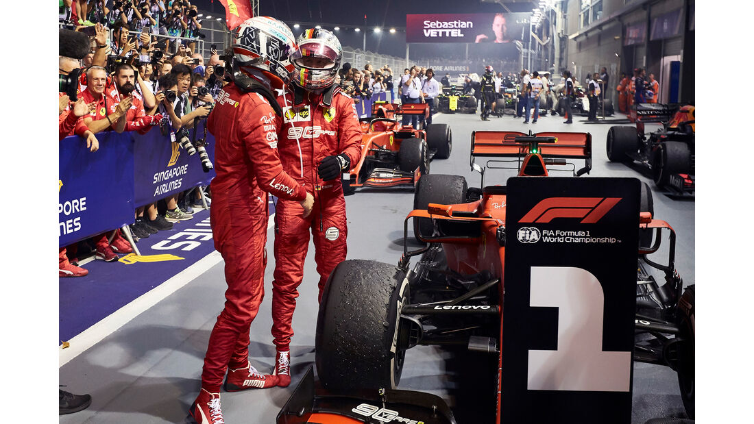 Vettel & Leclerc - GP Singapur 2019
