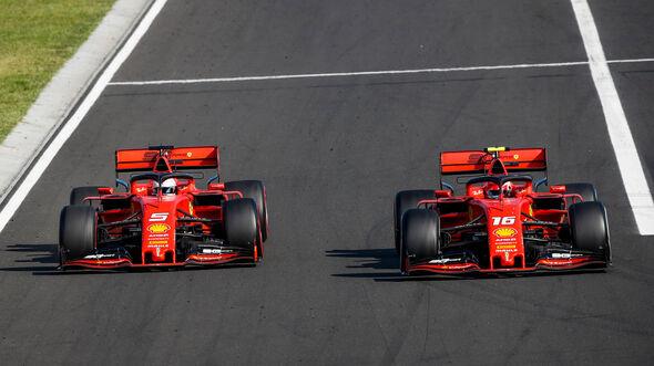 Vettel - Leclerc - GP Ungarn 2019 - Budapest - Rennen
