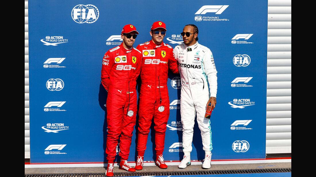 Vettel - Leclerc - Hamilton - GP Belgien 2019 - Spa-Francorchamps - Qualifying