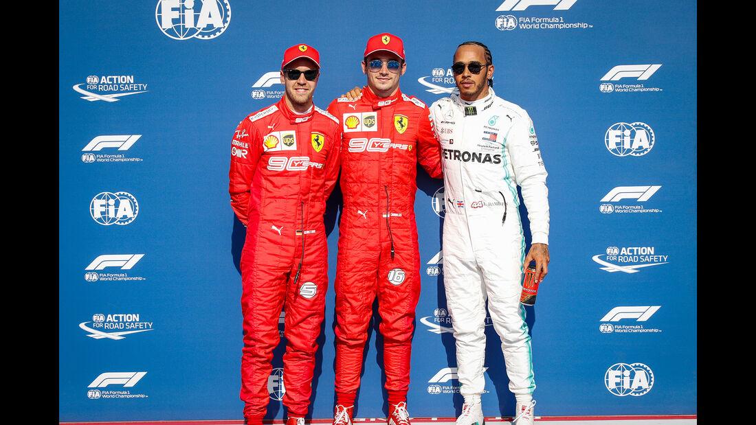 Vettel - Leclerc - Hamilton - GP Belgien - Spa-Francorchamps - Formel 1 - Samstag - 31.8.2019