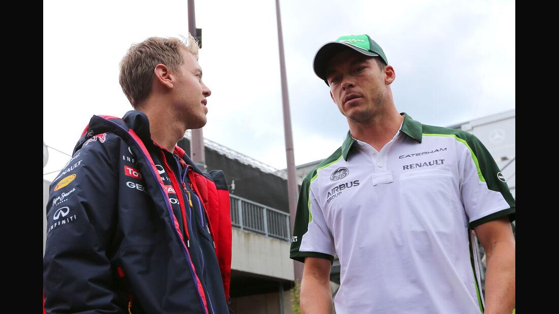 Vettel & Lotterer - Formel 1 - GP Belgien - Spa-Francorchamps - 22. August 2014