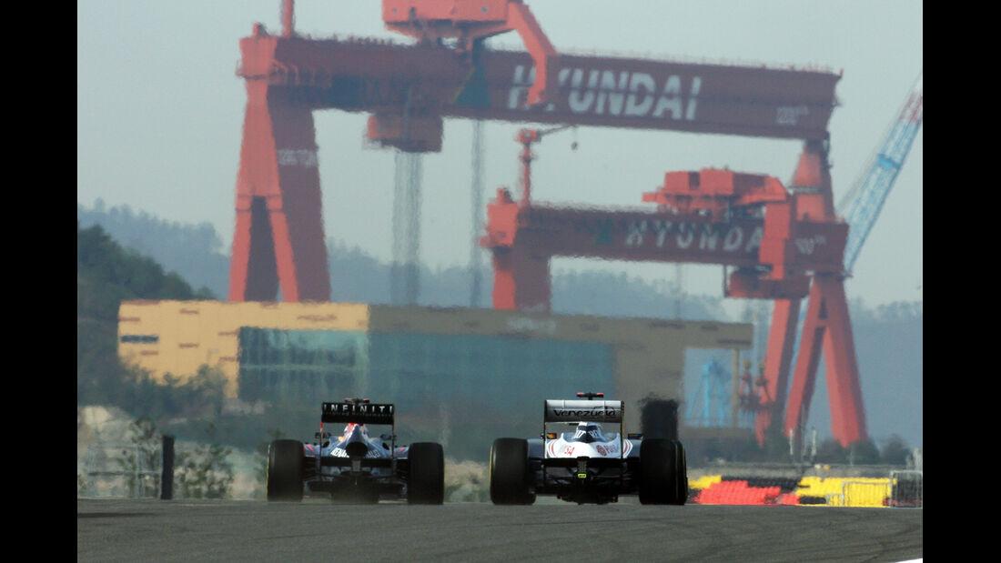Vettel & Maldondao - Formel 1 - GP Korea - 12. Oktober 2012