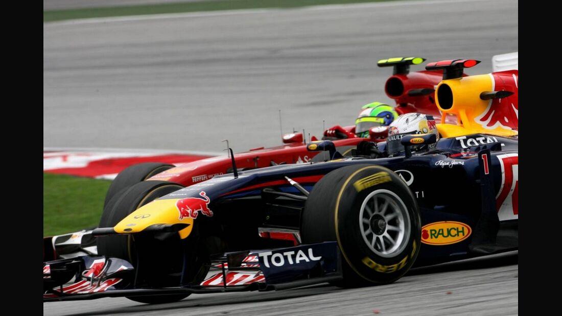 Vettel Massa GP Malaysia 2011 Formel 1