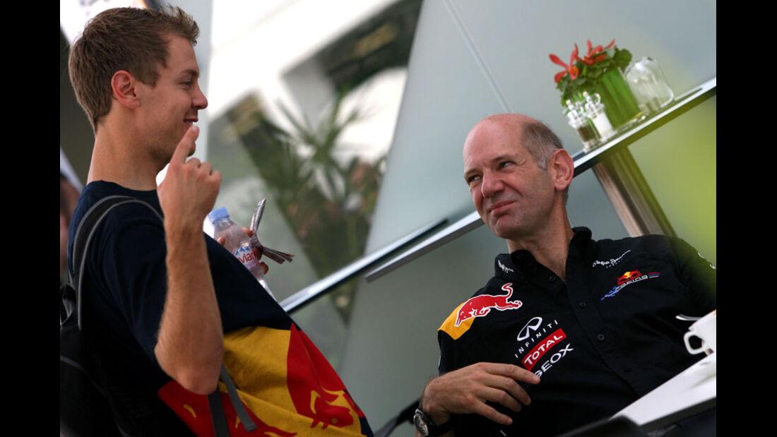 Vettel & Newey - GP Singapur - 23. September 2011
