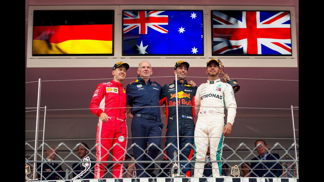 Vettel - Newey - Ricciardo - Hamilton - GP Monaco 2018 - Rennen