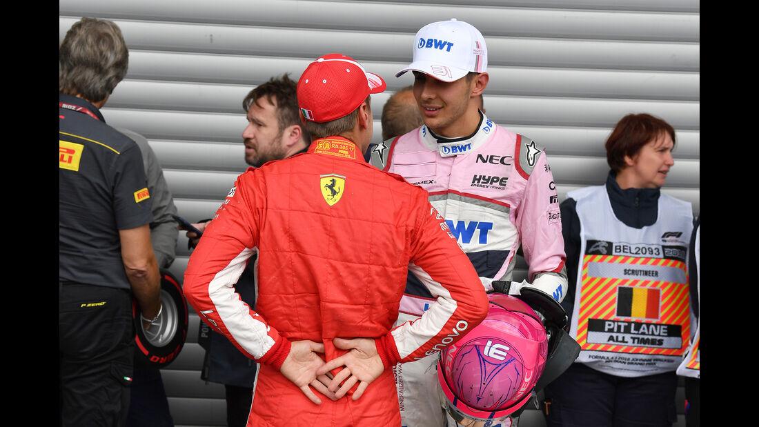 Vettel & Ocon - Formel 1 - GP Belgien - Spa-Francorchamps - 25. August 2018