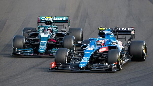 Vettel - Ocon - GP Ungarn 2021 - Budapest - Rennen