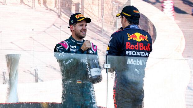Vettel - Perez - GP Aserbaidschan 2021 - Baku - Rennen