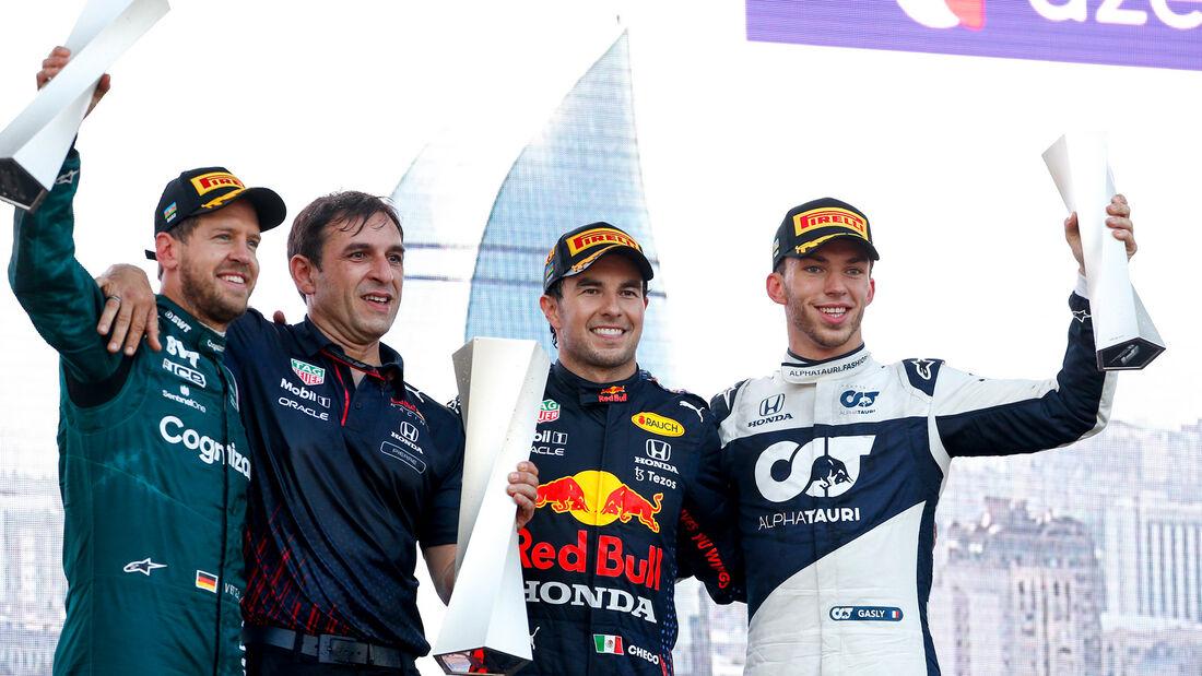 Vettel - Perez - Gasly - GP Aserbaidschan 2021 - Baku - Rennen