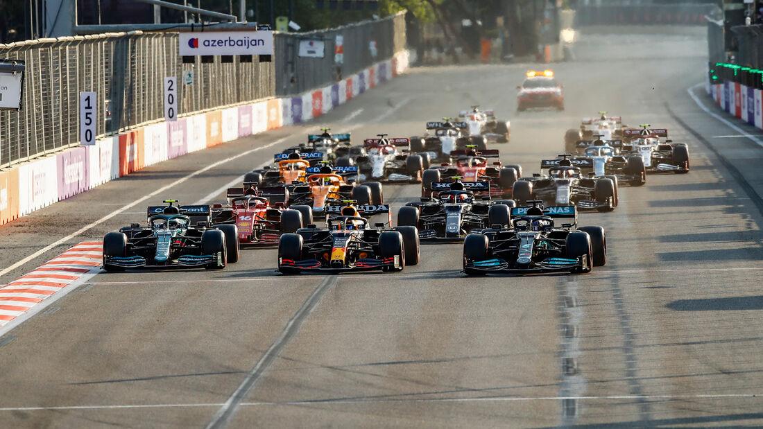 Vettel - Perez - Hamilton - GP Aserbaidschan 2021 - Baku - Rennen