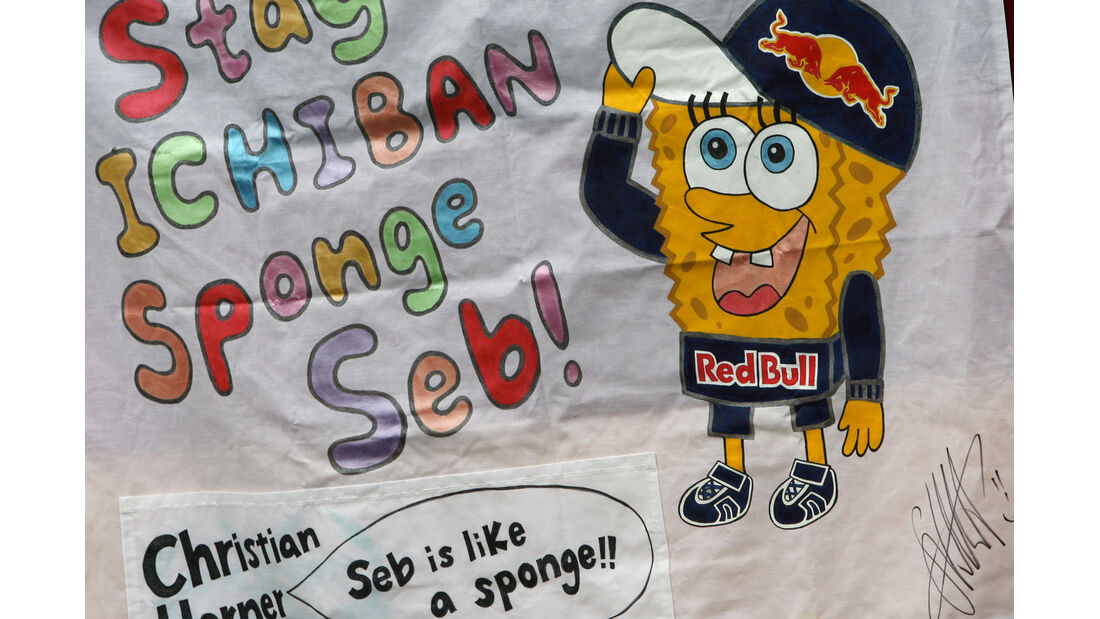 Vettel-Plakat - GP Australien - Melbourne - 16. März 2012