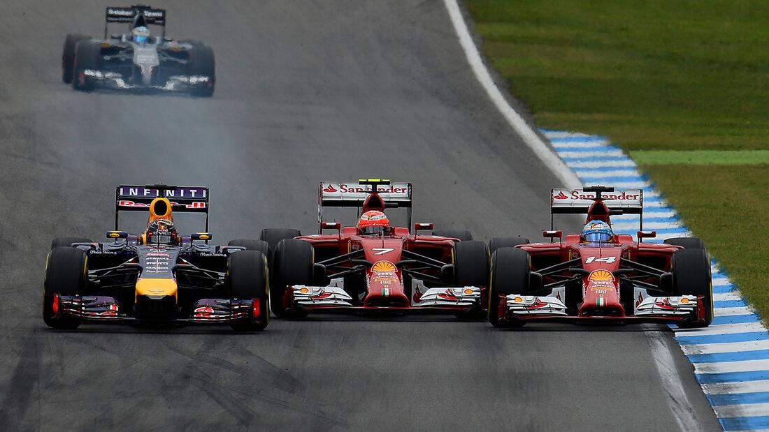 Vettel, Räikkönen & Alonso - GP Deutschland 2014