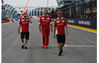Vettel, Räikkönen & Arrivabene - Ferrari - Formel 1 - GP Singapur - 15. September 2016