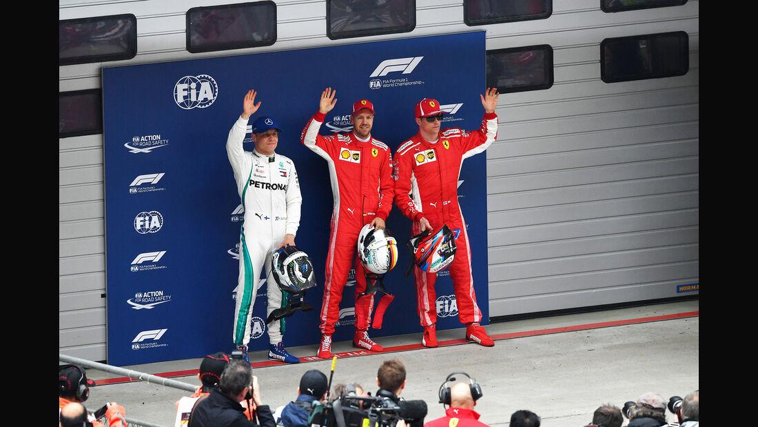 Vettel, Räikkönen & Bottas - GP China 2018