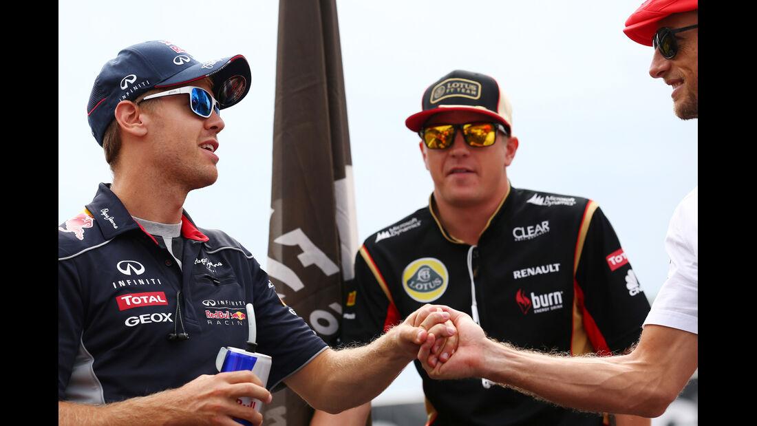 Vettel, Räikkönen & Button - GP Italien 2013