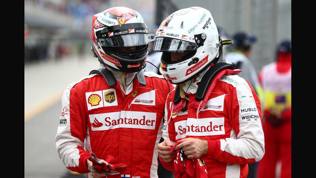 Vettel & Räikkönen - Ferrari - Formel 1 - GP Australien - Melbourne - 14. März 2015