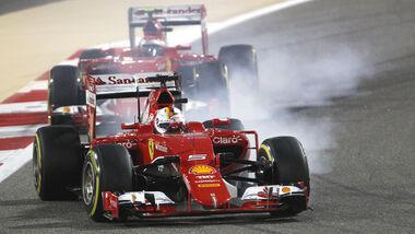 Vettel & Räikkönen - Ferrari - Formel 1 - GP Bahrain 2015