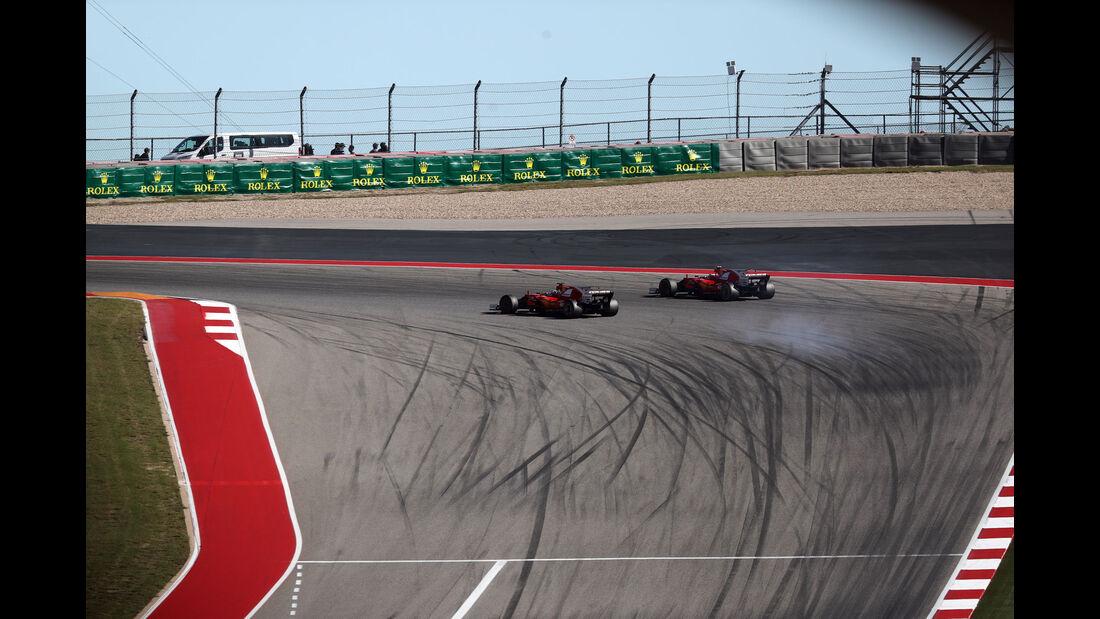 Vettel - Räikkönen - Ferrari - GP USA 2017 - Rennen