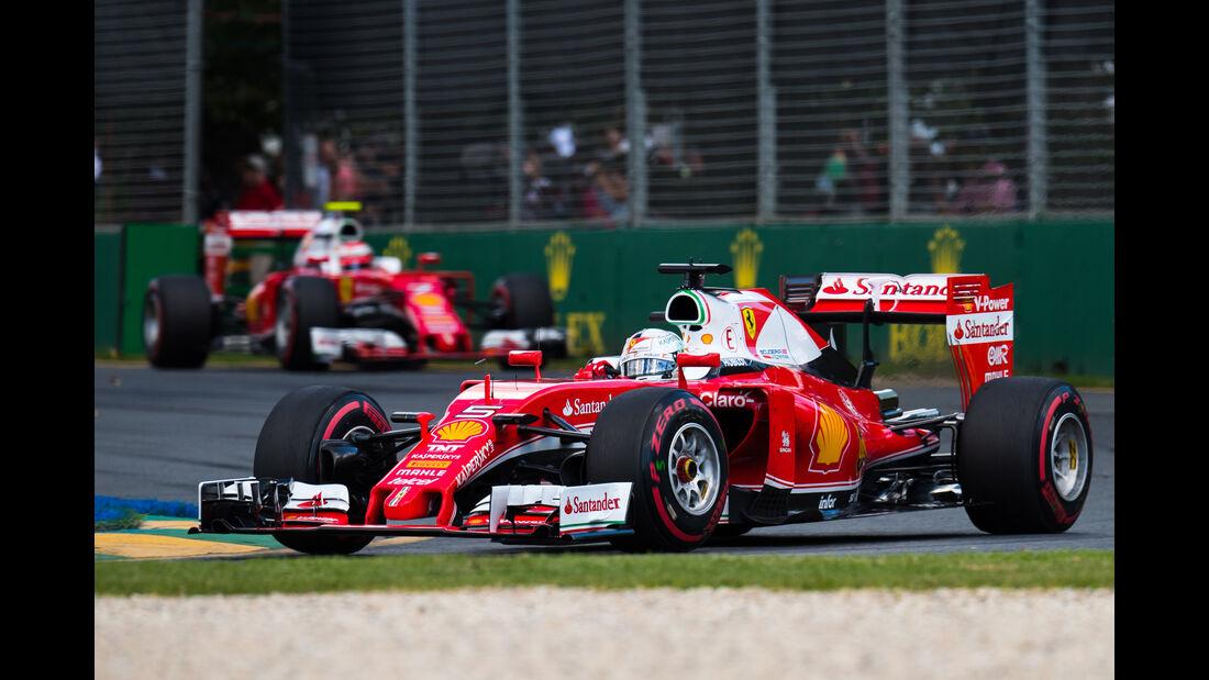 Vettel & Räikkönen - GP Australien 2016