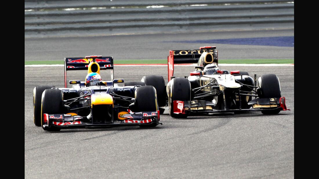 Vettel Räikkönen GP Bahrain 2012
