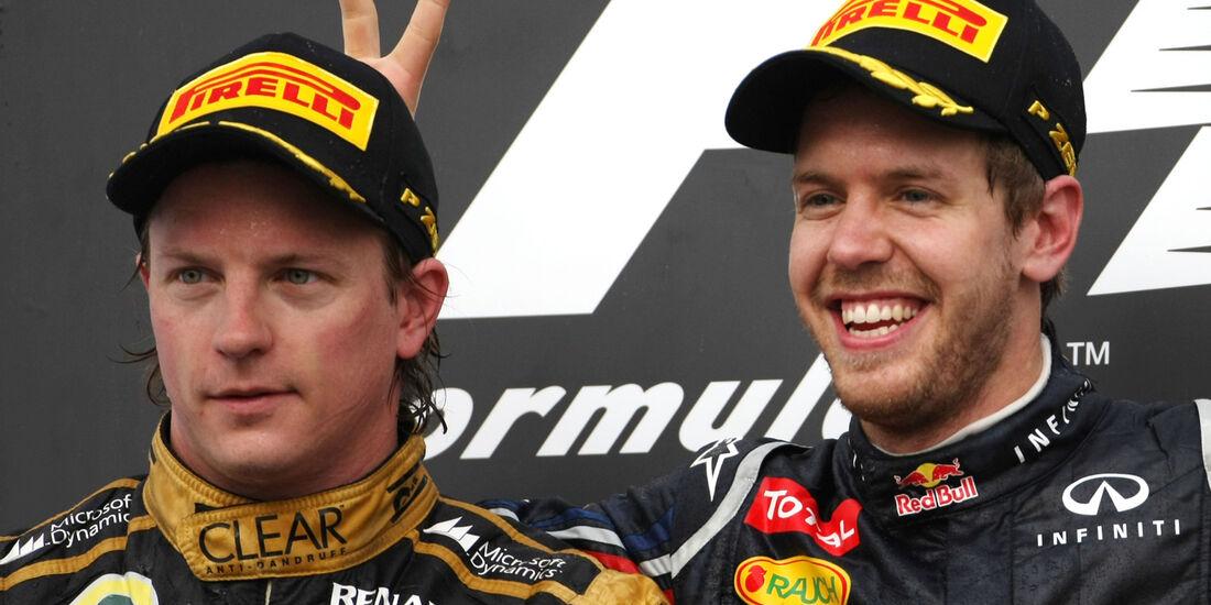Vettel Räikkönen - GP Bahrain 2013