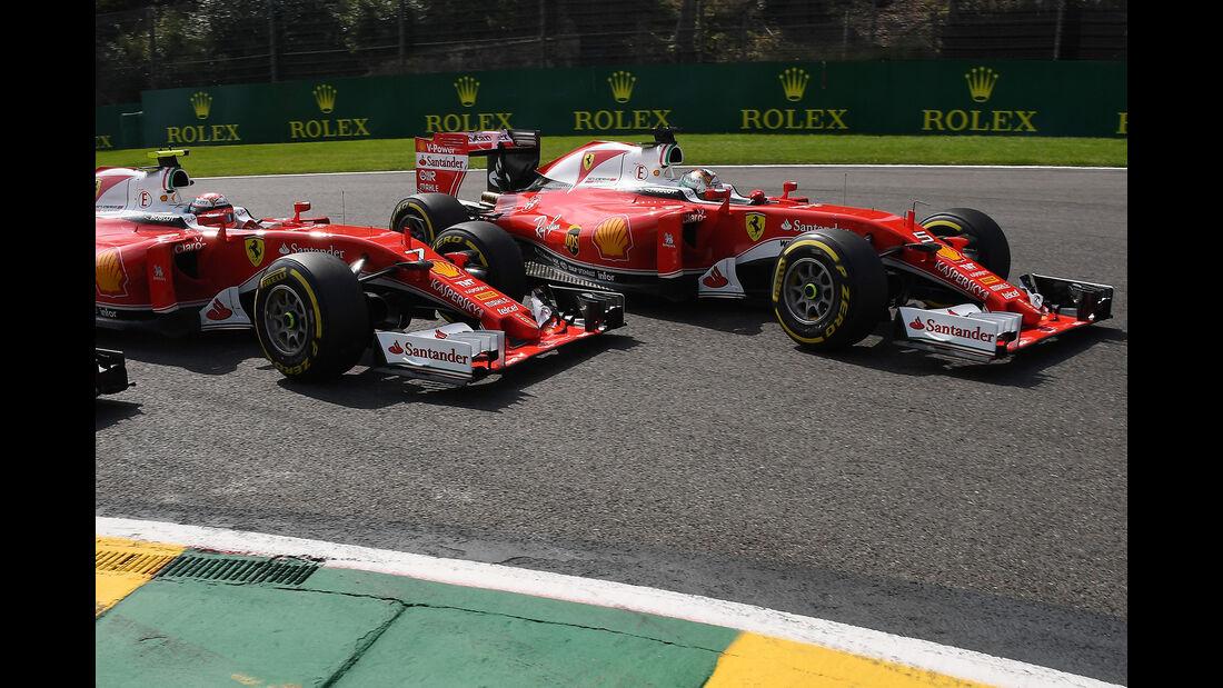 Vettel & Räikkönen - GP Belgien 2016