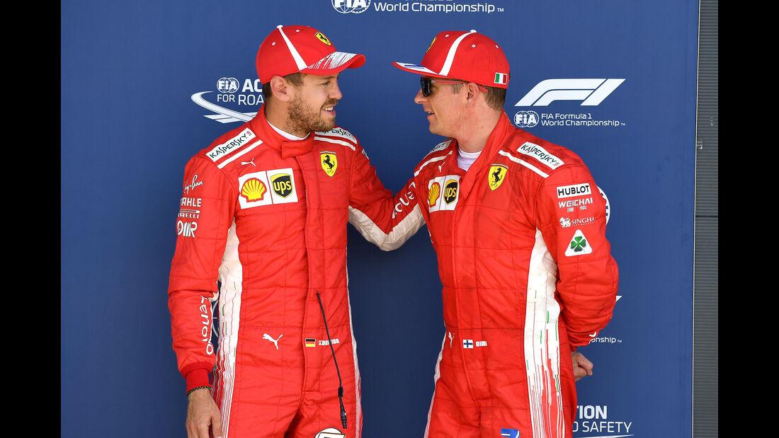 Vettel & Räikkönen - GP England 2018