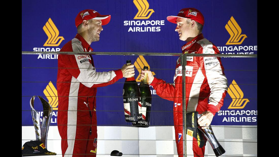 Vettel & Räikkönen - GP Singapur 2015