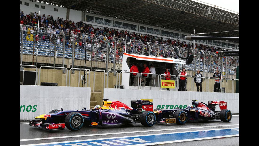 Vettel & Ricciardo - GP Brasilien 2013