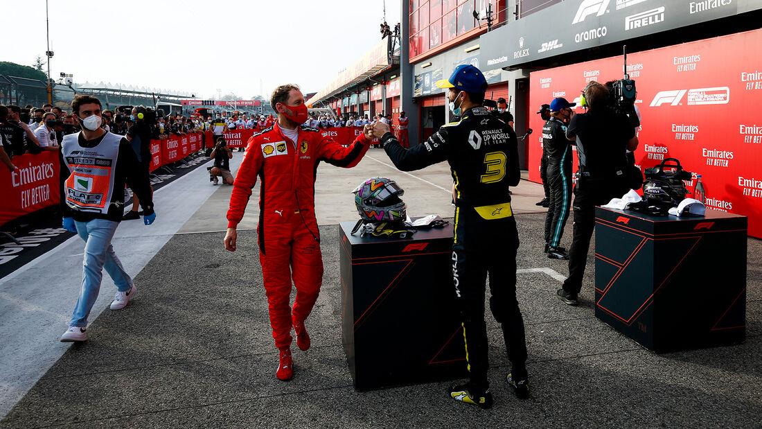 Vettel - Ricciardo - GP Emilia-Romagna 2020 - Imola - Rennen