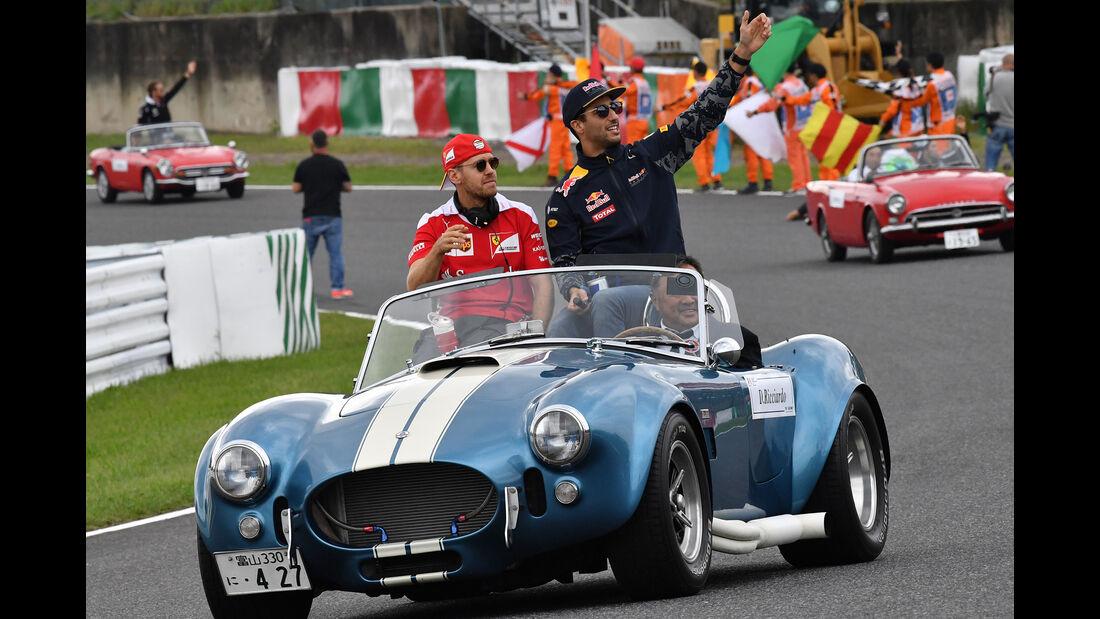 Vettel & Ricciardo - GP Japan 2016