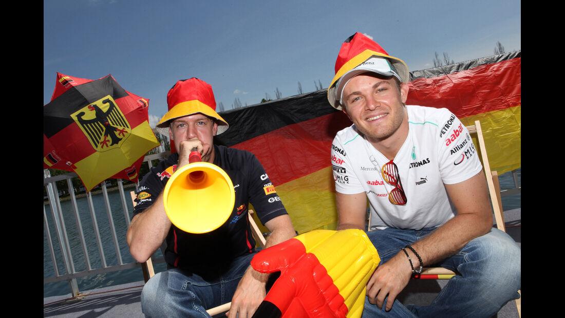 Vettel & Rosberg F1 Fun Pics 2012