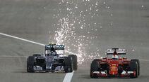 Vettel & Rosberg - Formel 1 - GP Bahrain 2015
