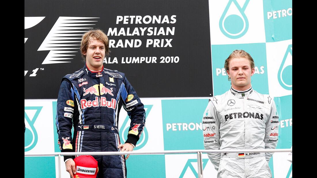 Vettel & Rosberg - GP Malaysia 2010