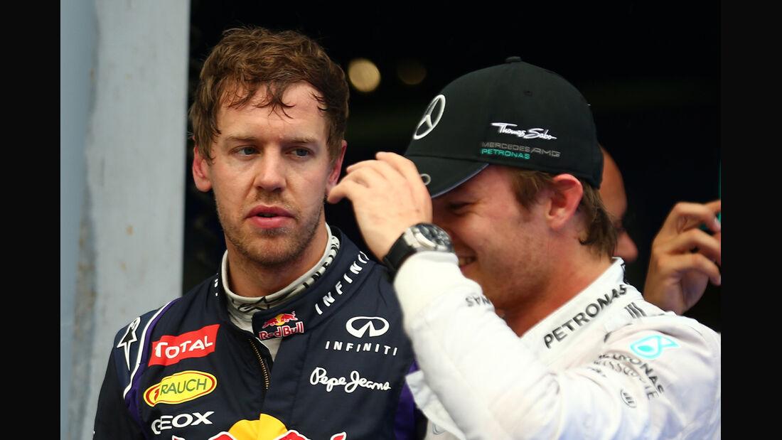 Vettel & Rosberg - GP Malaysia 2014