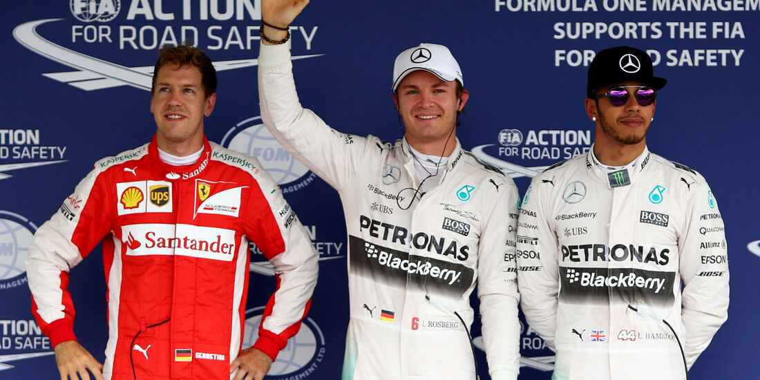 Vettel, Rosberg & Hamilton - GP Mexiko 2015