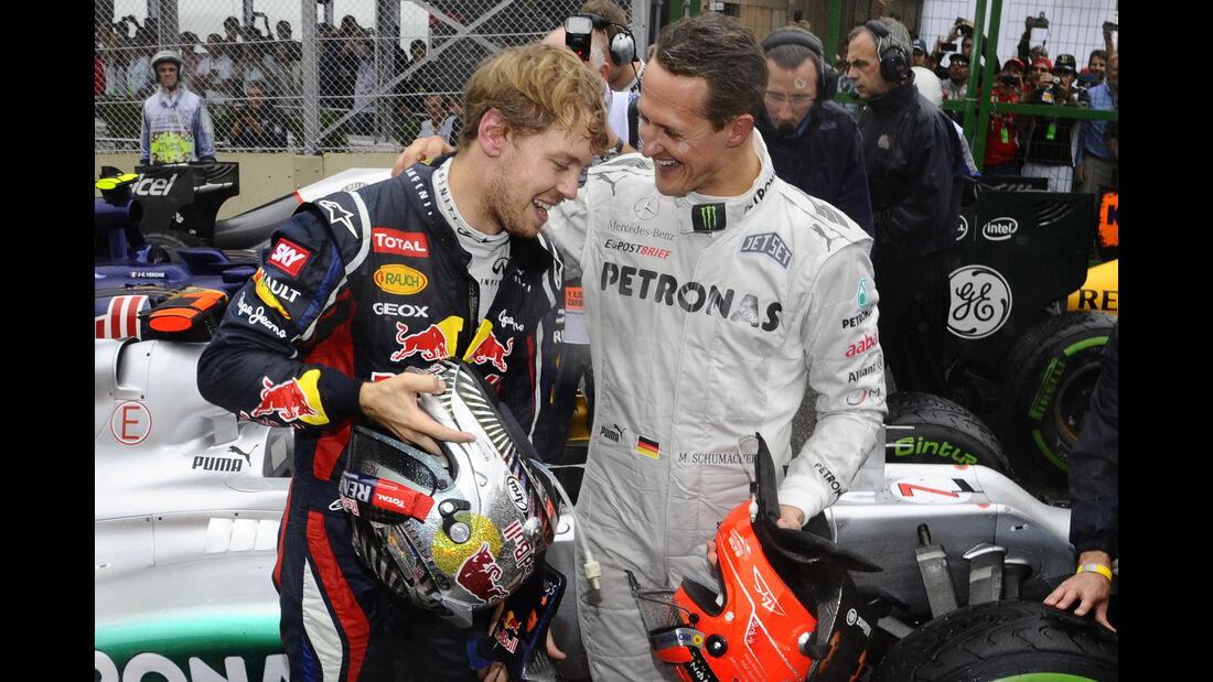 Vettel & Schumacher - GP Brasilien 2012