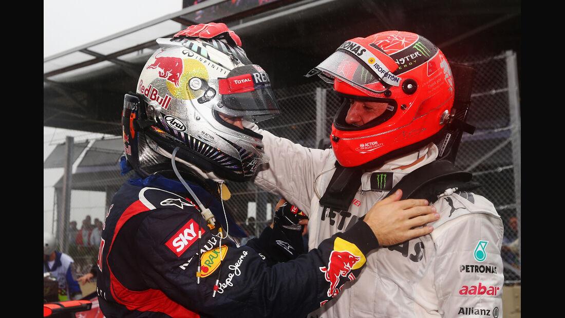 Vettel & Schumacher GP Brasilien 2012
