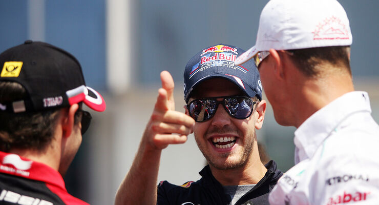 Vettel Schumacher Glock GP Ungarn 2012