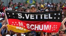 Vettel & Schumacher-Plakat - GP Brasilien 2014
