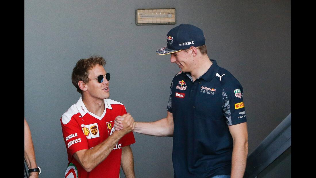 Vettel & Verstappen - Formel 1 - GP Italien - Monza - 2. September 2016
