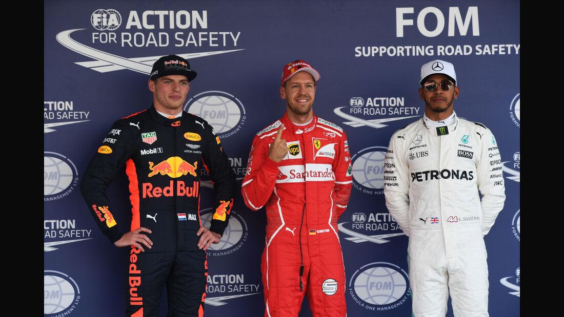 Vettel - Verstappen - Hamilton - GP Mexiko 2017 - Qualifying