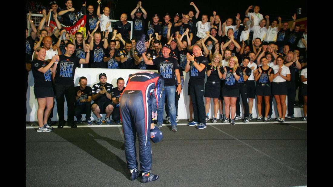 Vettel WM-Feier GP Japan 2011