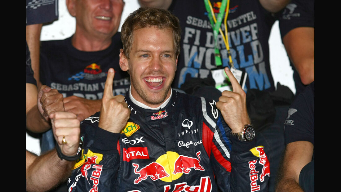 Vettel WM-Feier GP Japan 2011