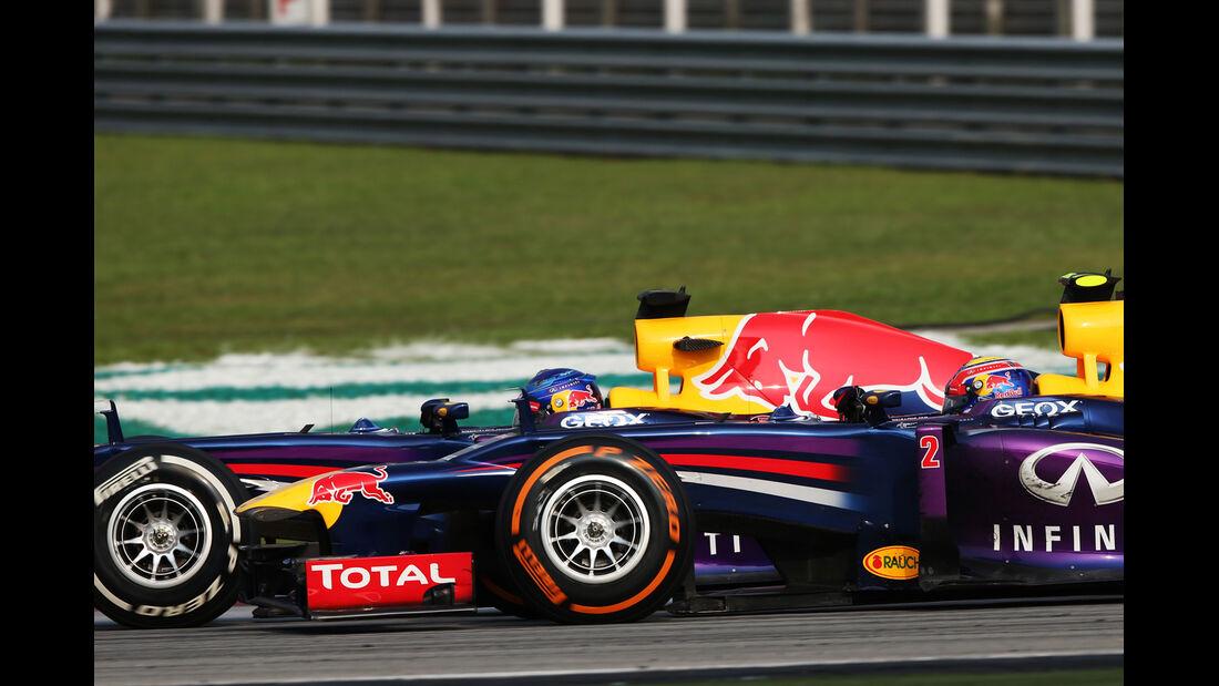 Vettel Webber 2013 GP Malaysia