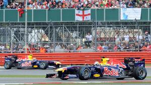 Vettel & Webber: GP England 2011