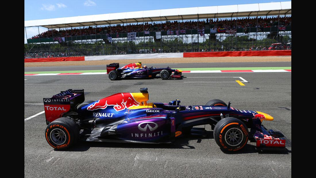 Vettel & Webber - GP England 2013