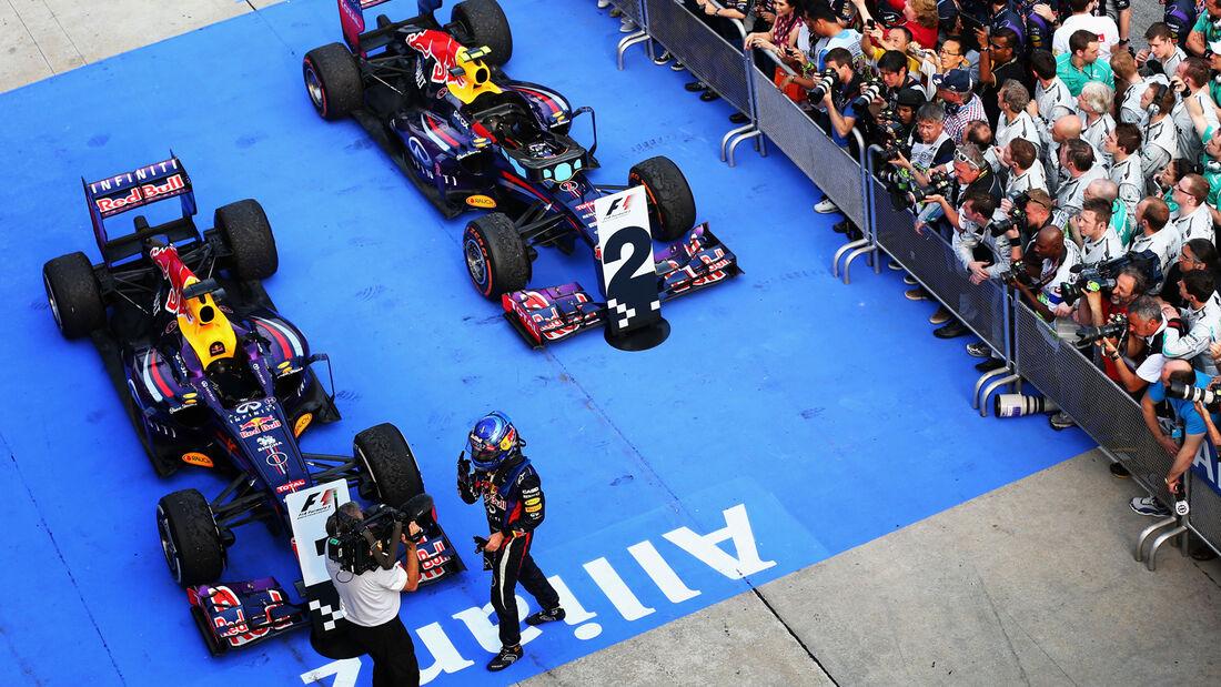Vettel Webber GP Malaysia 2013