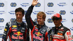Vettel, Webber & Hamilton - GP Europa - Qualifying - 25. Juni 2011