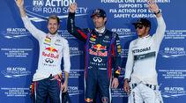 Vettel, Webber & Hamilton - GP Japan 2013